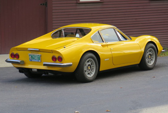 Introduced in 1968 and designed by Leonardo Fioravanti of Pininfarina, the 246 GT Dino was designed and built by Ferrari but marketed as a Dino. It was the first mass-produced car from Ferrari, with 3,761 built.