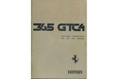 ferrari 365 gtc 4 library books and tools rh 365gtc4 com Owner's Manual Ferrari California ferrari 250 gte owners manual