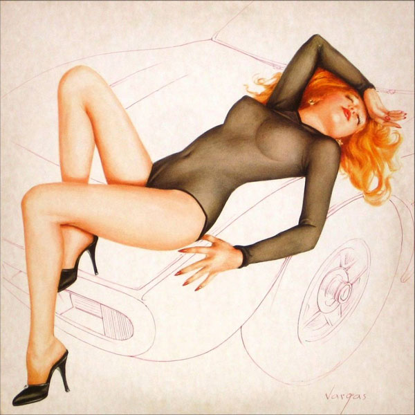 The Cars Candy-O album art by Alberto Vargas