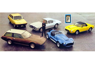 Willy Felber and his cars circa 1977