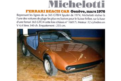Felber Beach Car Michelotti Ad circa 1976 (s/n 16017)